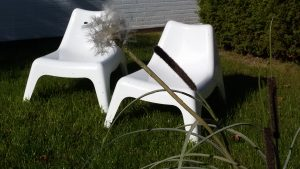 Lounge Möbel im Garten