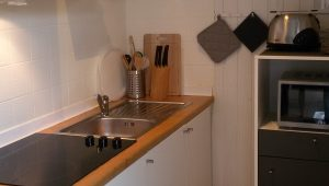 Wohnlich helle Küche